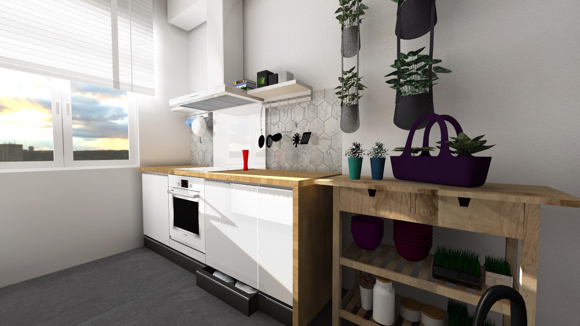 Sprytne rozwiązania w małych kuchniach  Funkcjonalna