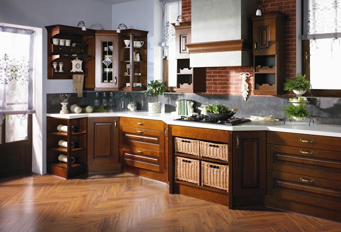 Kuchnie Drewniane Funkcjonalna Kuchnia Projektowanie