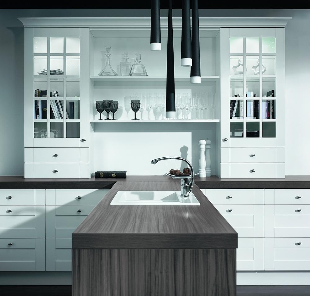 Biała kuchnia  Funkcjonalna kuchnia, projektowanie kuchni   -> Kuchnia Retro Biala