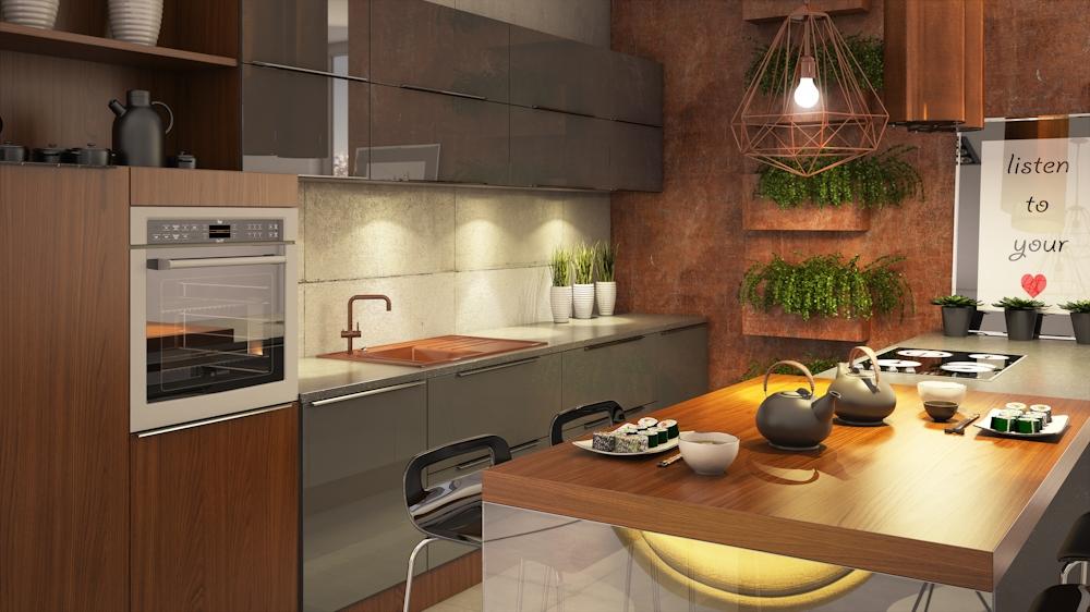 Wielkomiejska nowoczesność  Funkcjonalna kuchnia, projektowanie kuchni, kuch